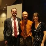 John Skinder, Larry Jefferson and Angela Skinder